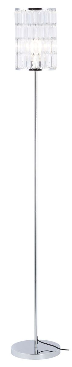 Dione silver chrome effect floor lamp departments diy at bq