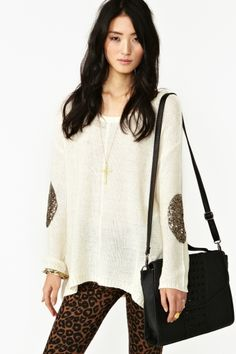 have this sweater n <3 it.......Sequin Patch Knit
