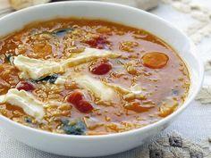 Spinat-Linsen-Suppe mit Weichkäse | Zeit: 30 Minuten |