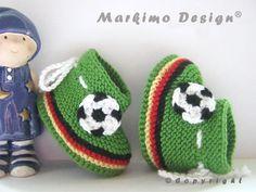 Babyschuhe Fussball Deutschland in 4 Größen ab von Markimo Design® auf DaWanda.com