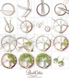 of Life Earring Tutorial - - Dale - . - Fashion - Tree of Life earring tutorial Dale -Tree of Life Earring Tutorial - - Dale - . - Fashion - Tree of Life earring tutorial Dale - tutorial on making with Jewelry Repair Store Near Me Now alt. Diy Jewelry Rings, Diy Jewelry To Sell, Diy Jewelry Tutorials, Wire Jewelry, Jewelry Crafts, Handmade Jewelry, Jewellery, Wire Earrings, Recycled Jewelry