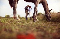 Happy couple with their horse by AndreiAlex. Happy couple with their horse Western Family Photos, Country Couple Pictures, Pictures With Horses, Horse Photos, Horse Engagement Photos, Country Engagement Pictures, Wedding Pictures, Horse Wedding Photos, Fall Engagement