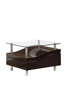 Global Furniture Wenge Occasional End Table With Metal Legs Tables Mdf Wood