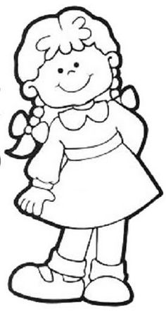 Girls body coloring pages Pattern Coloring Pages, Colouring Pages, Coloring Pages For Kids, Coloring Sheets, Coloring Books, Drawing For Kids, Line Drawing, Digi Stamps, Copics