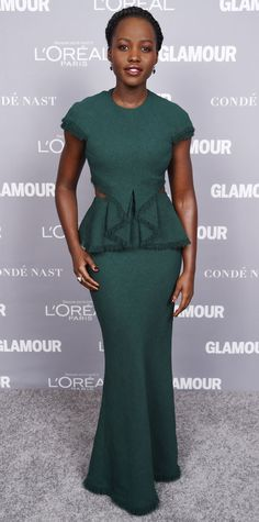 InStyle's Look of the Day picks for November 10, 2015 include Lupita Nyong'o, Victoria Beckham and Jennifer Lawrence.