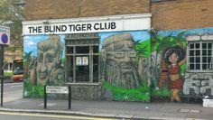 Blind Tiger Club #Brighton #streetart #brightongraffiti #paintedcity