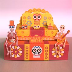 How to make a Paper craft ofrenda for Dia de los Meurtos or Day of the Dead. Enjoy the tutorial and the music! https://happythought.co.uk/day-of-the-dead/how-to-make-an-ofrenda