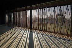 Garangula Gallery - Exterior shade casts beautiful shadows on gallery floor