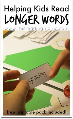 Helping Kids Read Longer Words {free baseball-themed printable pack included}   This Reading Mama