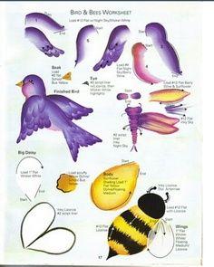 donna dewberry RTG Bird- & Bee--I WUV THE WITTLE BURDIES! hee-hee!