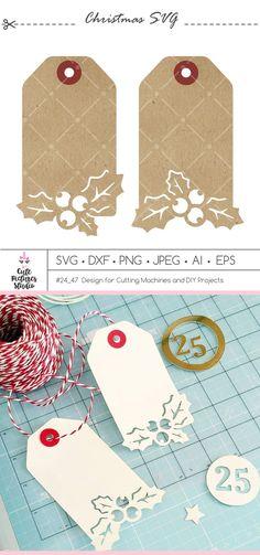 Christmas Tag Templates, Christmas Svg, Gift Tag Templates, Cricut Tags, Holiday Gift Tags, Paper Tags, Cricut Creations, Creative Cards, Making Ideas