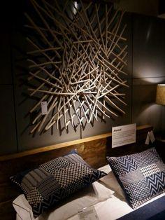 Awesome Driftwood Art Pieces stick art above bed Diy Wand, 3d Wall Art, Wooden Wall Art, Art 3d, Wall Art Designs, Wall Design, Diy Wall Decor, Diy Home Decor, Art Above Bed