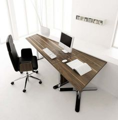 wood office