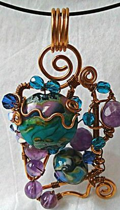 Bead Soup Pendant (and Winner) by Joyce Becker  - featured on Jewelry Making Journal