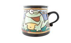 Frog Mug 12oz Pottery Teapots, Ceramic Pottery, Pottery Animals, Animal Mugs, Pottery Wheel, Funny Mugs, Handmade Pottery, Tea Mugs, Animal Pictures