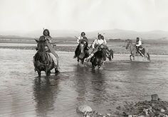 Utes crossing the river
