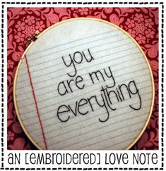A Little Emboidered Love Note