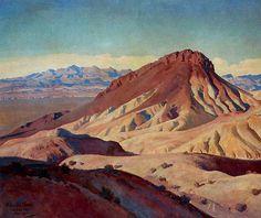 MAYNARD DIXON  Volcanic Cones (Boulder, NV, 1934)
