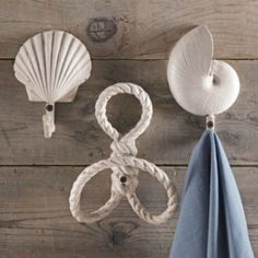 Great for a bathroom  - Ocean-themed Hooks