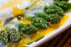 Asparagus with a Poached Egg in a Dill and Caper Avgolemono Sauce Recipes