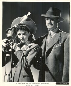 Marjorie Weaver and George Reeves, Man at Large (1941)