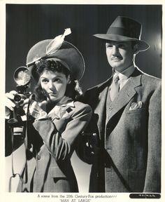 Marjorie Weaver and George Reeves, Man at Large (1941)