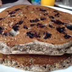 Blueberry Buckwheat Pancakes, gluten free, vegan