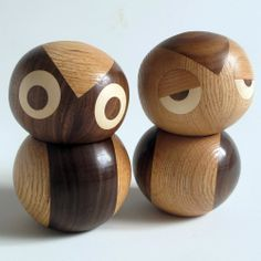 Night and Day Owls (Set of 2)