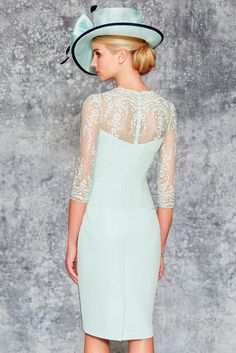 Ronald Joyce 991103 03 pretty chiffon dress has ruching to the bodice and beaded detailing to the waist matching jacket in a waterfall style.