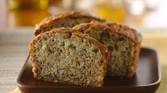 The best banana bread ever!Rich buttermilk, crunchy nuts and flavorful, ripe bananas make this banana bread tops. Make Banana Bread, Banana Bread Recipes, Dessert Recipes, Desserts, Fun Recipes, Recipies, Sweet Bread, Coffee Cake, The Best
