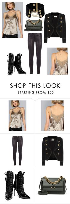 """""""the other way of army style"""" by carriebradshaw-ii on Polyvore featuring rag & bone, Yves Saint Laurent, Giuseppe Zanotti and Marni"""