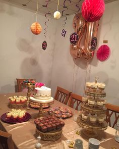Customer picture @sumi497_  Dessert Table & Desserts were done by me Macarons - @sparkledbakes  Cake - @the_cakery_boutique (Cant wait to see my graduation cake that I have ordered in September) #dessert #dessertable #cheesecake #trifle #chocolatemousse #macarons #birthdayparty #london #northlondon #halal #halalfood #halalsweets #stalbans #herts #hertfordshire #luton #sweettoothtreats #tissuepompoms #tissuepaperart