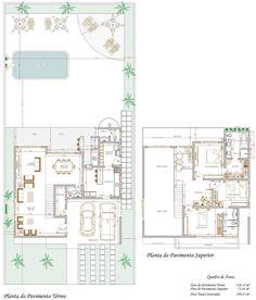 Projeto de Sobrado de 3 quartos com 199,53m²