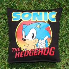Throw Pillow Sham Cover made from Sonic The Hedgehog T-shirt. $20.00, via Etsy.