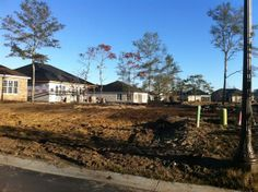 Phase 2 new construction homesites and new homes under construction. #MyrtleBeach #NewHomesforSale #GrandeDunes
