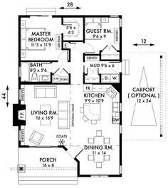 2 Bedroom Cottage Floor Plans | Bedroom-Cabin-Cottage-House-Plans-Floorplan