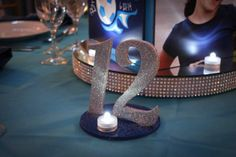 Custom Table Signs | Sparkly Table Number