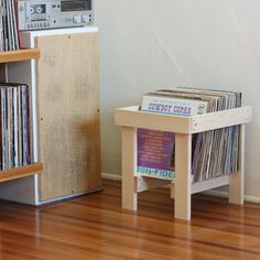 LP Record Crate in Solid Pine by LLTTgoods on Etsy
