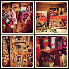 Holiday Gifts! Local handmade mittens, spooner creek clay decor made in USA, cookie baking books and fun mugs!