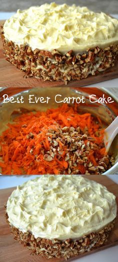 Hands down- the best ever carrot cake! Its super moist and tasty. Tasted awesom… Hands down- the best ever carrot cake! Its super moist and tasty. Tasted awesome even after 2 days of being in the refrigerator. Its a secret bakery recipe! Bakery Recipes, Dessert Recipes, Cooking Recipes, Bakery Ideas, Healthy Recipes, Just Desserts, Delicious Desserts, Yummy Food, Moist Carrot Cakes