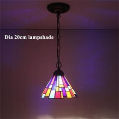 Stained Glass Pendant Lights Mosaic Glass Lightings For Bedroom Living Room Dining Kitchen Creative Art Light Fixtures Led