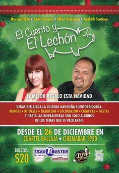 El Cuerito y El Lechón @ Cinema Bar 1950, Viejo San Juan #sondeaquipr #elcueritoyellechon #teatropr #comediapr #cinemabar1950 #viejosanjuan #sanjuan