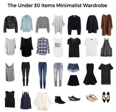 How to create a minimalist wardrobe with under 30 items. fall capsule wardrobe & free printable check list to help you clean out your closet. Fall Capsule Wardrobe, New Wardrobe, Fall Wardrobe Essentials, Travel Wardrobe, French Wardrobe Basics, Minimalist Wardrobe Essentials, Plus Size Capsule Wardrobe, Closet Basics, Staple Wardrobe Pieces