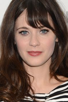 Haircut : cara ovalada de Zooey Deschanel