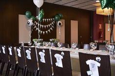 Soccer Banquet, Soccer Party, Ideas Para Organizar, Ideas Para Fiestas, Baby Shower, Table Decorations, Diy, Furniture, Home Decor