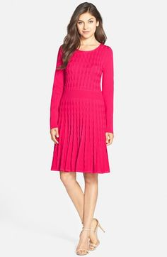 Free shipping and returns on Eliza J Cable Knit Sweater Dress at Nordstrom.com. The flattering texture and comfortable built-in stretch of cable knitting enriches this swingy A-line day dress.