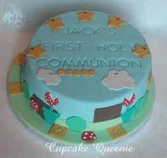 First Holy Communion cake - like the embossed print