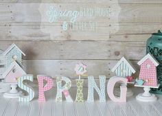 Spring Birdhouses and Letter Set - The Wood Connection Blog