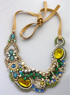 One of a Kind Art Deco Peacock Necklace ready to by DolorisPetunia, $500.00