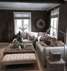 Personalize your home decoration with pretty digital printables. Interior Design Living Room, Living Room Designs, Living Spaces, Log Home Interiors, Log Cabin Homes, Cozy Place, Home And Deco, Home Decor Inspiration, Home Furniture